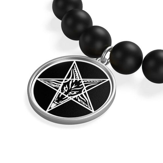 Sigil of Baphomet Matte Onyx Bracelet