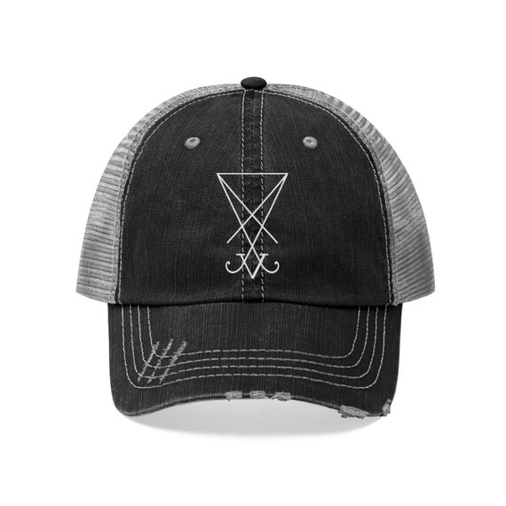 Sigil Of Lucifer Embroidered Trucker Hat