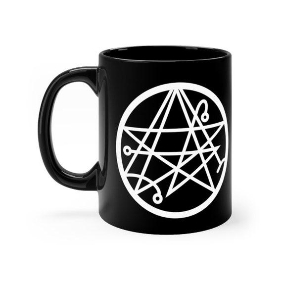 Necronomicon Sigil of the Gateway black coffee mug 11oz