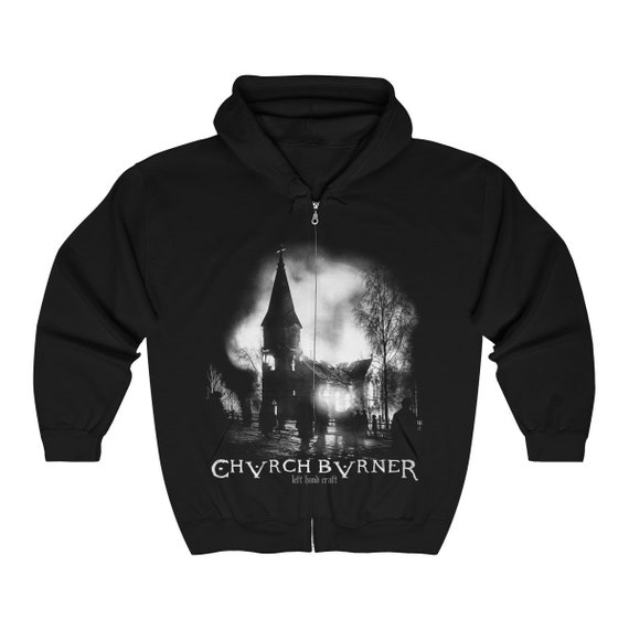 Church Burner Full Zip Hooded Sweatshirt Heavy Blend