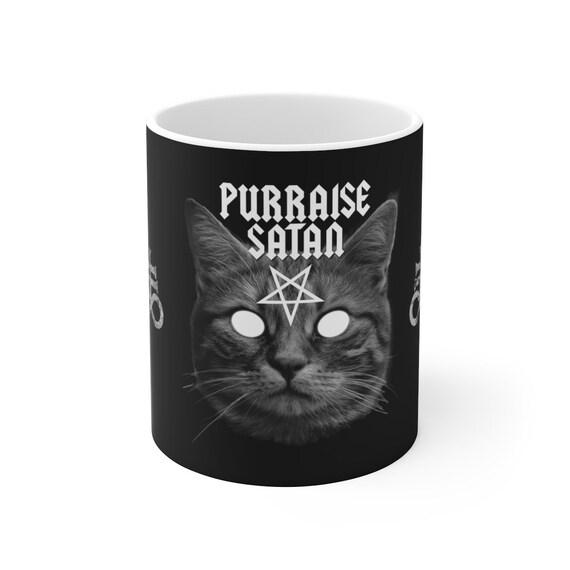 Purraise Satan White Ceramic Mug