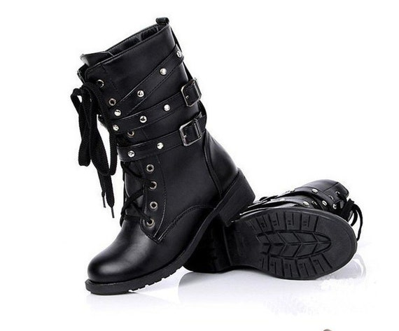 Buckle Goth Boots
