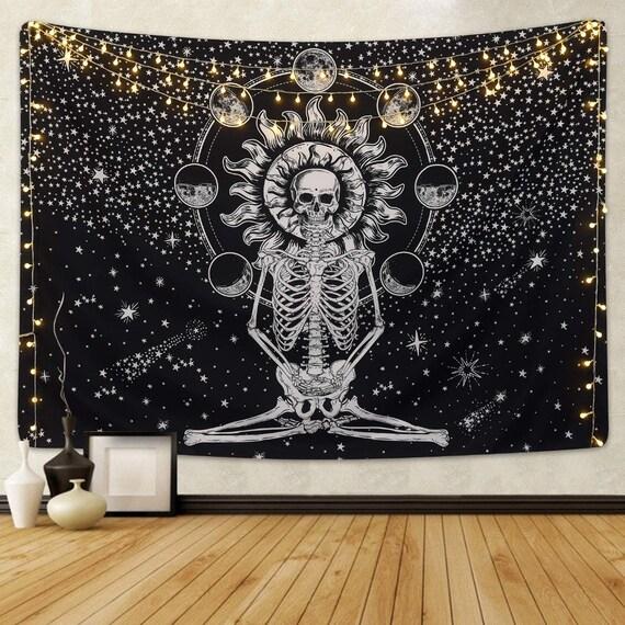 Zen Skeleton Tapestry