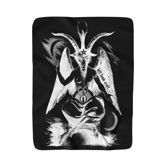 Baphomet Negative Sherpa Fleece Blanket