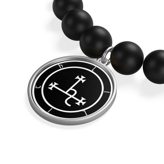 Sigil of Lilith Matte Onyx Bracelet
