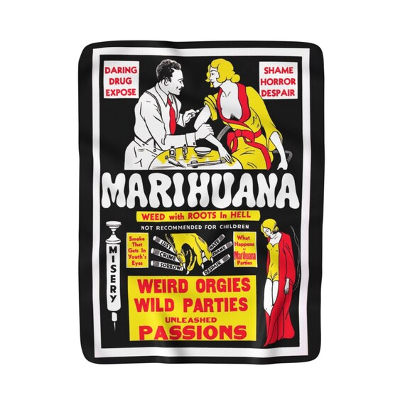 Marihuana Sherpa Fleece Blanket