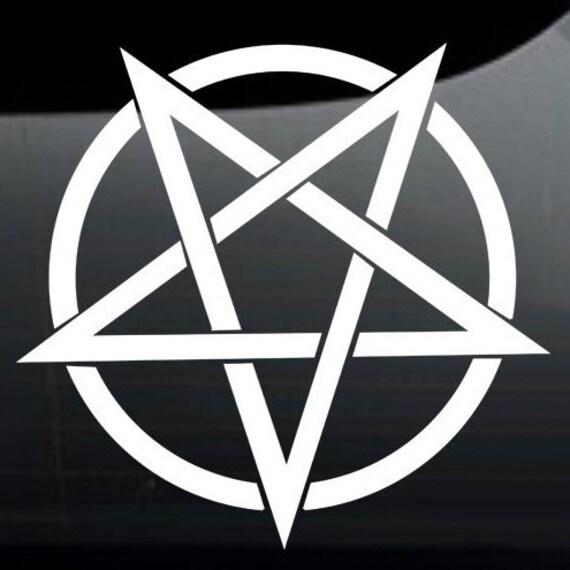 Pentagram - Satanic Vinyl Decal / Bumper Sticker