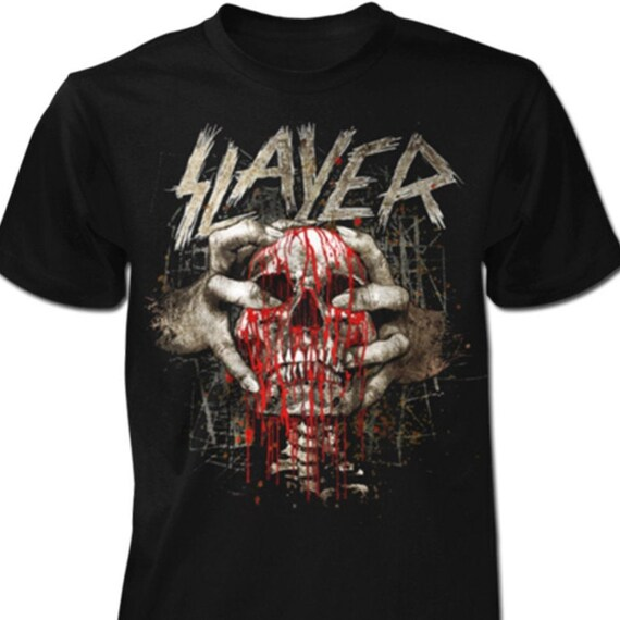 Slayer - Skull Clench Officially Licensed Tee - Size Small and XL Only