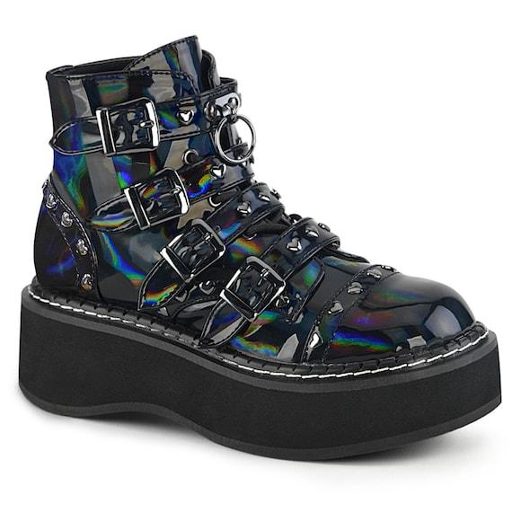 "Demonia - Emily 315 - Black Hologram 2"" Platform"