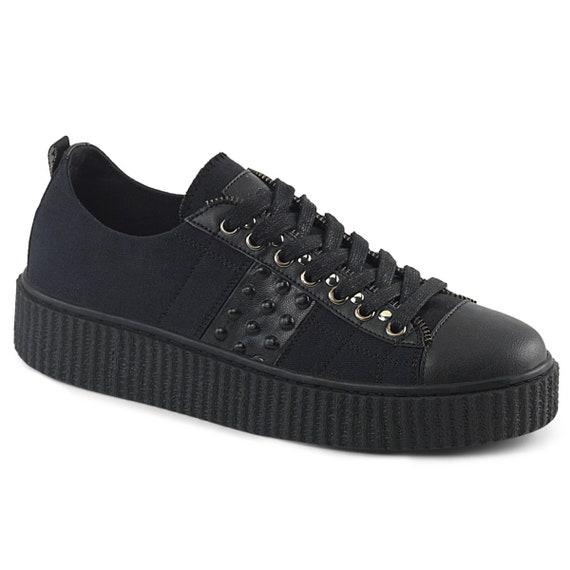 Demonia Men's -  Low Key Black Sneakers - SNEEKER-107