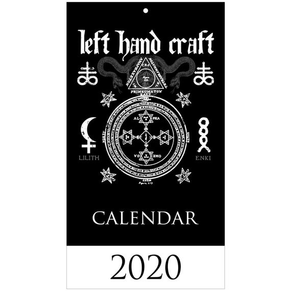 Satanic 2020 Wall Calendar - The Art Of Left Hand Craft