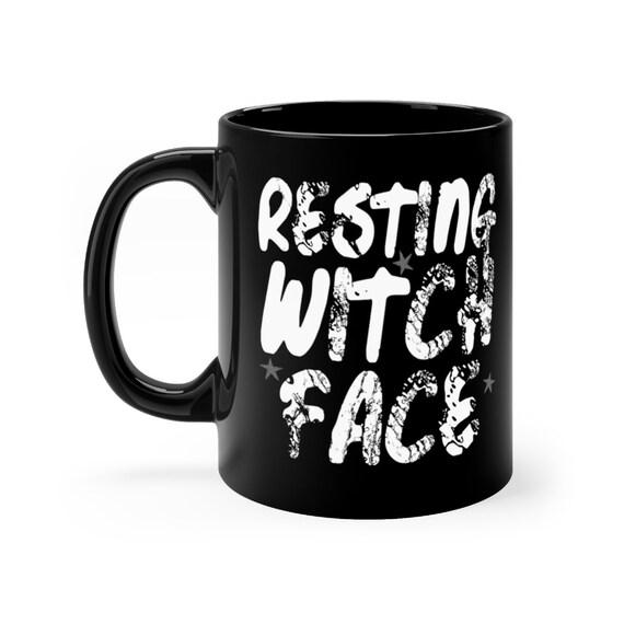 Resting Witch Face black coffee mug 11oz