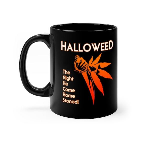 Halloweed Halloween black coffee mug 11oz