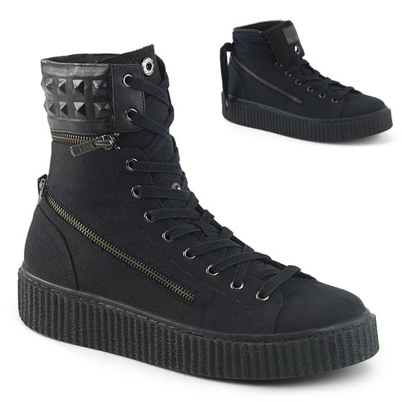 Demonia Men's - Spiked SNEEKER-270 High Top Sneakers