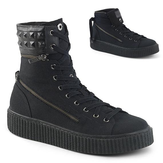 Demonia Men's - Spiked SNEEKER-270 High Top Sneakers