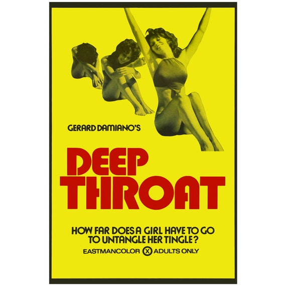 Deep Throat 24x36 Poster - Cult Adult X Rated Vintage Reprint