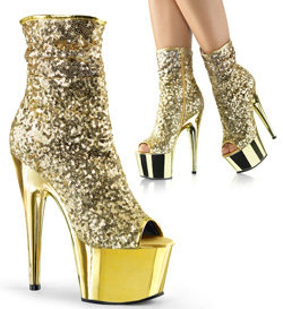 Pleaser - Adore 1008SQ GOLD - 7 Inch Heel