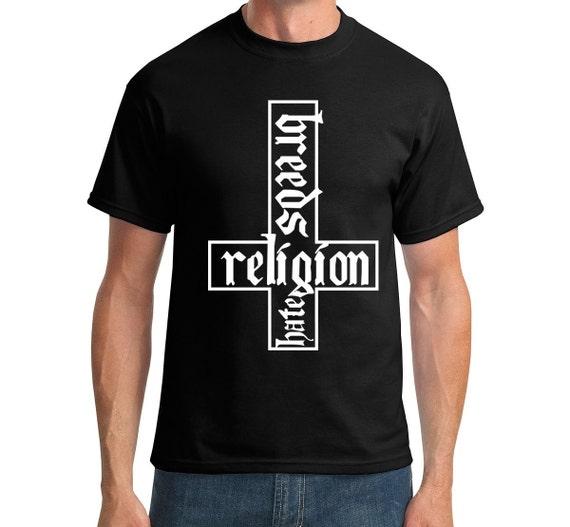 Religion Breeds Hate, Hate Breeds Religion - Men's Cotton Tee Shirt
