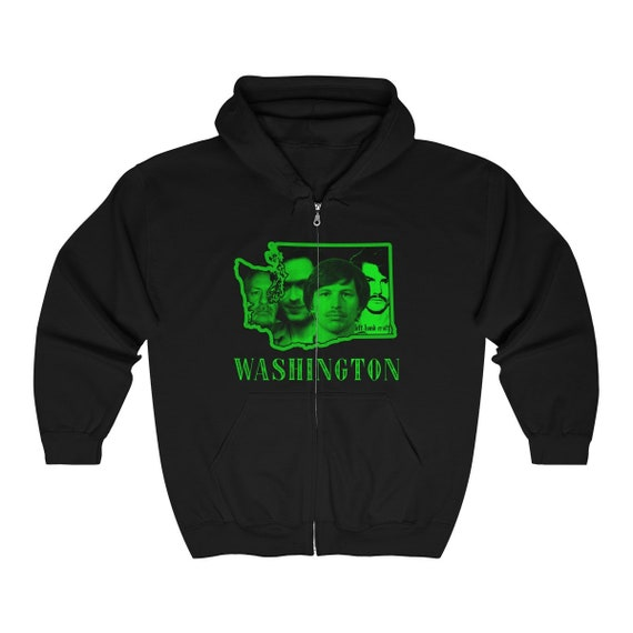 Killer Washington Unisex Full Zip Hooded Sweatshirt