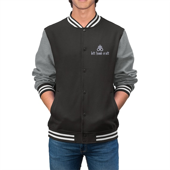 Leviathan Cross Embroidered Varsity Jacket