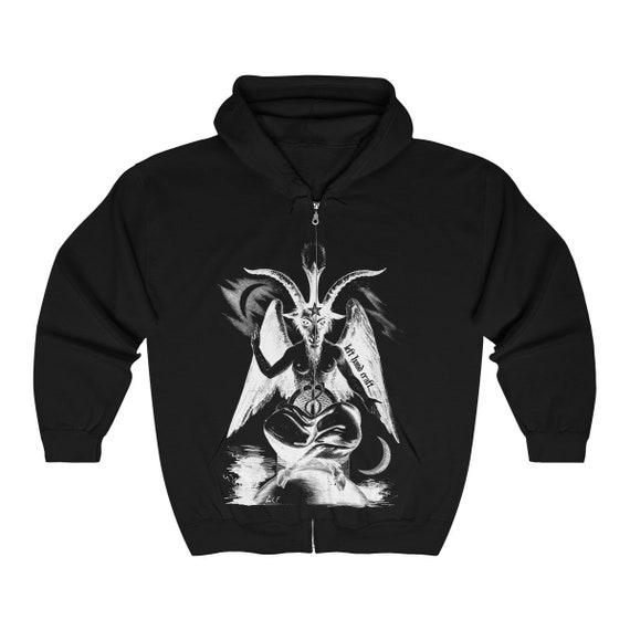 Baphomet Hoodie Zip Up Sweatshirt - Satanic Hoodies