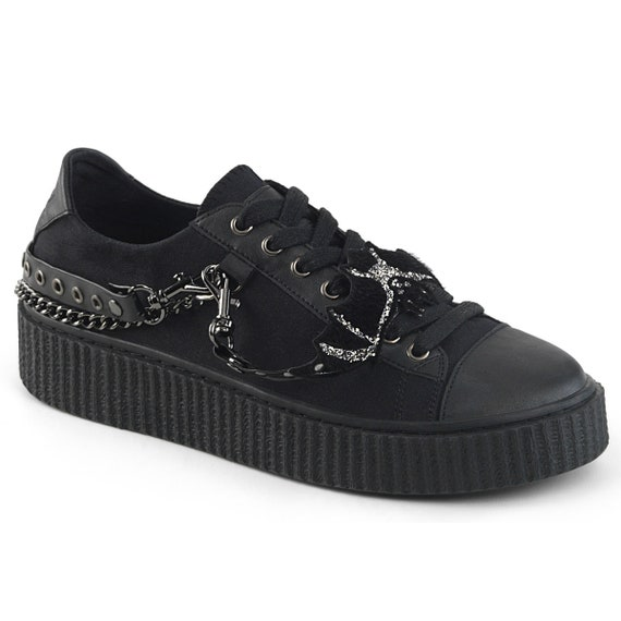 Demonia Men's - Metal Chained Sneakers - SNEEKER-112
