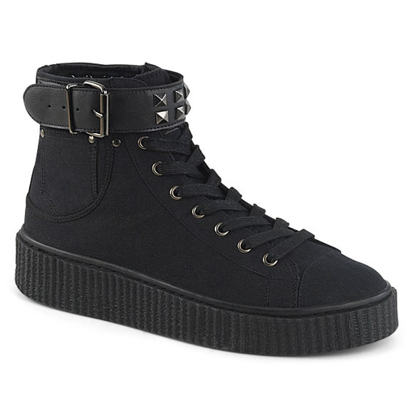 Demonia Men's - Pyramid Studded Strap Sneakers - SNEEKER-255
