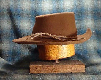 d3259797cd2b6 Vaquero historic cowboy hat southwestern style flat crown