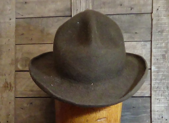 Mon Grizz Derby hat short brim Montana Peak Cowboy Hat  b6faf77ac3e