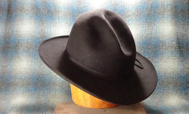 custom fit Beaver Brand hat body hand-shaped Western dress Upgraded Cowboy Hat Pistolero hand-blocked vintage fur felt Gus Crease