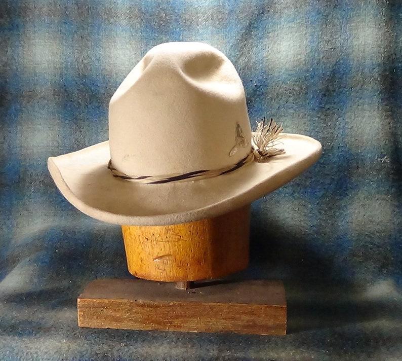 8ee47648 Old West Drifter custom fit fur felt cowboy hat | Etsy