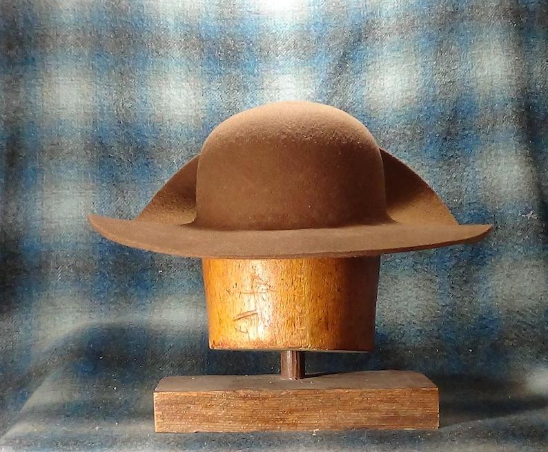 Long Hunter Hat, Colonial, Revolutionary War, reenactment, historic, Lil  Grizz, hand blocked, custom-fitted, Fur Felt,
