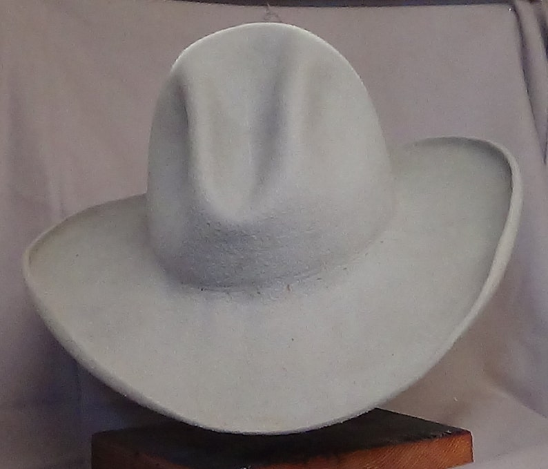 movie character hat Old West hand blocked Quigley hat Lil Grizz classic western Cowboy Hat cowboy action Sharpshooter custom fit