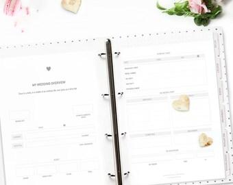 printable wedding planner stylish and beautiful