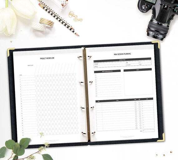 Printable Photographers Planner Photography Business