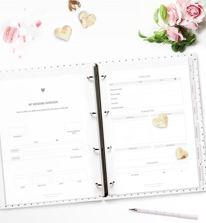 Printable Wedding Planner. Stylish and Beautiful image 0