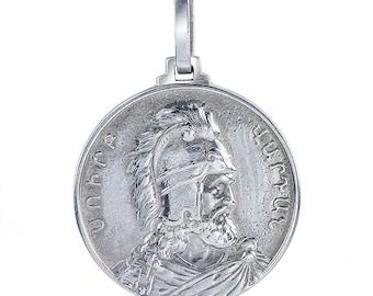 Vartan Mamigonian Mamikonian Armenian General Mount Ararat Pendant Necklace Jewelry In Sterling Silver
