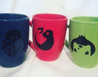 Pokemon mug- Charmander, Bulbasaur, squirtle and Pikachu