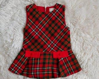 Adorable vintage plaid dress 2T