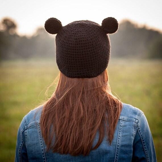 Micky Maus Hut Schwarz Häkeln Hut Mit Mickey Mouse Ohren Etsy