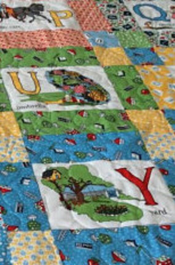 Alphabet Quilt hausgemachte Steppdecken Geburtstagsgeschenk | Etsy