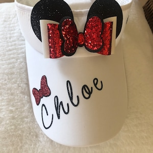 Its My Birthday Disney Font Glitter Visor It Comes With a Removable Castle Charm Or Choose A Charm From The 2nd Picture