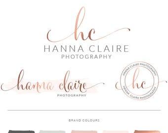 Logo design, Logo Branding Kit, Mini branding kit, Premade logo, Watermark logo, Photography Logo, Logo, Branding Package, Rose gold logo 43