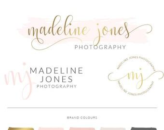 Branding Kit, Premade logo, photo watermark, logo design custom, photo watermark and logo for photography, logo design branding package 55