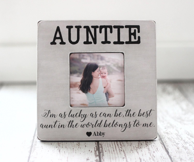Tante Tante personalisiertes Geschenk Bilderrahmen \'Ich