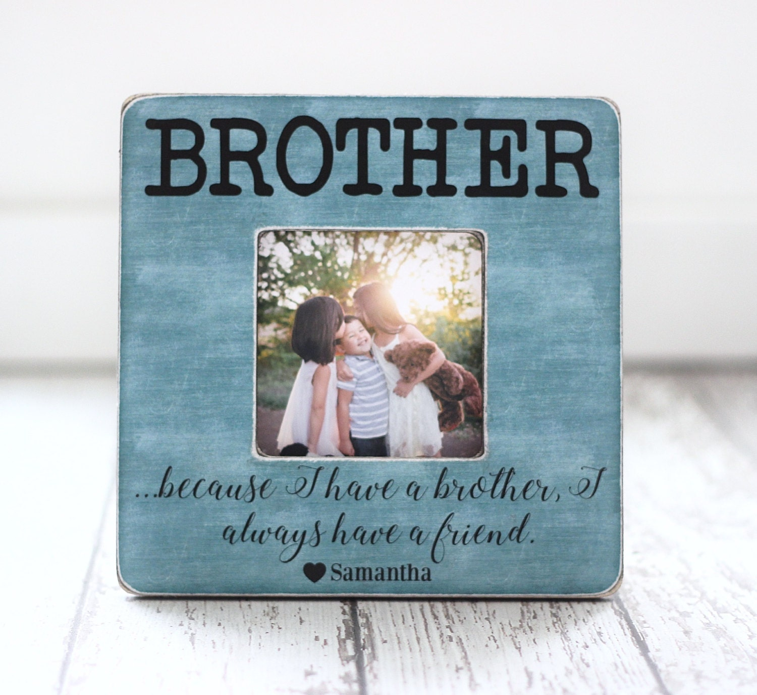 Brothers Picture Frame Christmas GIFT Personalized Brothers | Etsy