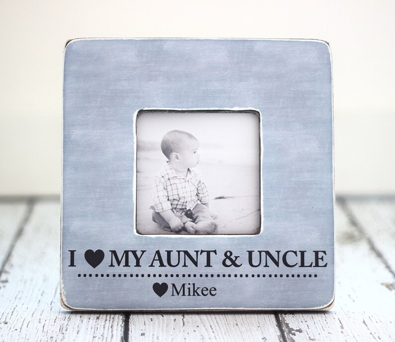 Aunt Uncle GIFT Personalized Picture Frame Auntie Uncle from image 0