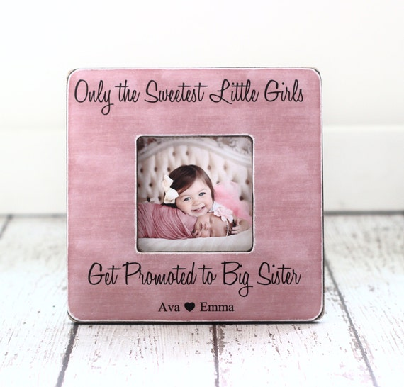 Big Sister Frame Big Sister Gift New Sibling Gift Personalized