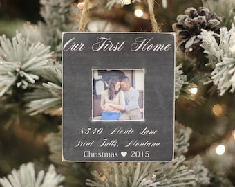 Christmas Ornament Our First Home Christmas GIFT Personalized Photo Ornament Housewarming Newlywed Gift Holiday GIFT