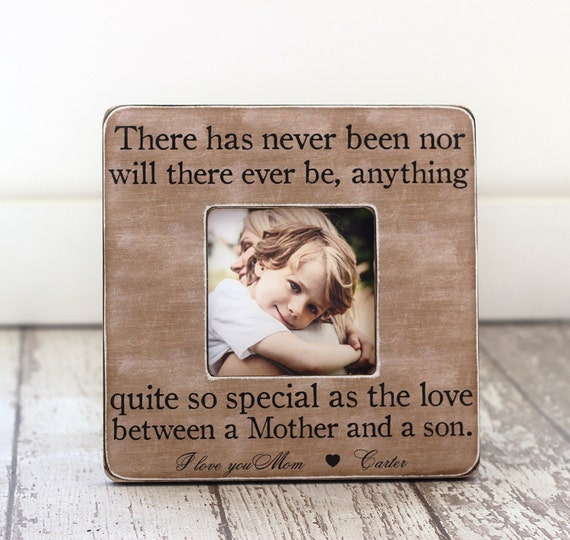 Mom Gift From Son Mother Son Personalized Picture Frame Mom Of Etsy